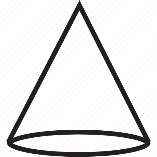 cone, shape, shapes icon