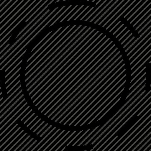 broken round, circle, line, round icon