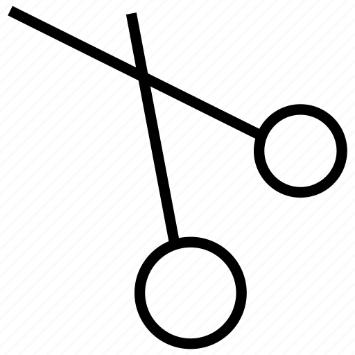 broken, cutting, scissor, tool icon