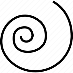 circling, line, scrolled, shape, spiral icon