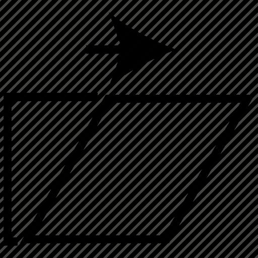 folder, next arrow, open, sign icon