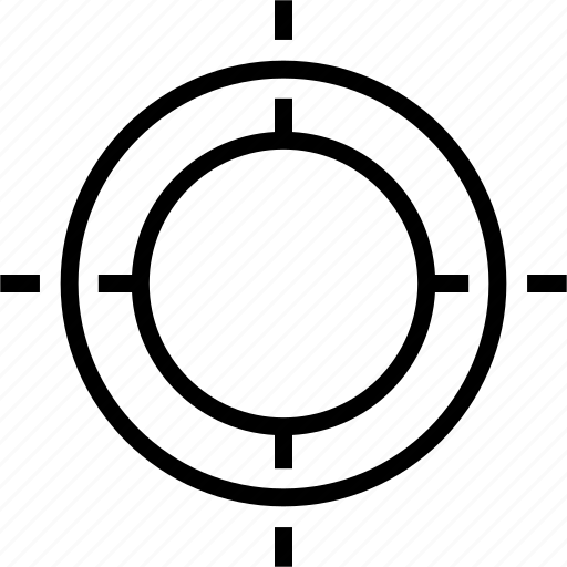 crosshair, shoot, symbol, target icon