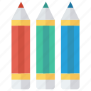 art, colors, design, pencil, stationary icon