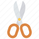 art, cut, scissor, stationary, tool icon