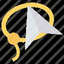 art, design, paperplane, send, telecom icon