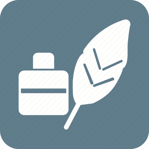 feather, feathers, ink, object, old, pen, quill icon