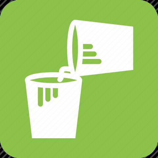 box, bucket, buckets, container, cream, paint, plastic icon