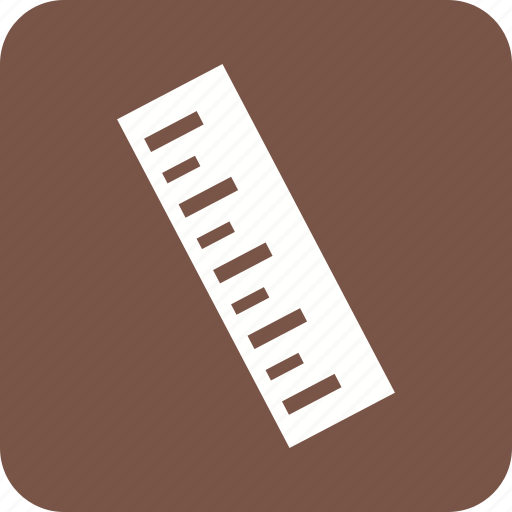 equipment, instrument, length, number, office, ruler, school icon