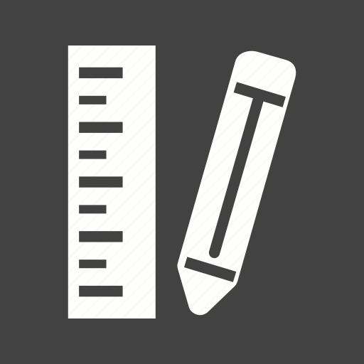 eraser, pencil, pencils, ruler, sharp, write icon