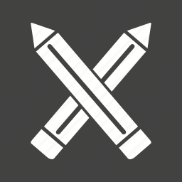 eraser, pencil, pencils, sharp, two, wood, write icon