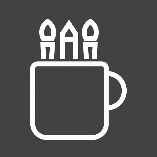 art, design, drawing, mug, paint, pencil, school icon