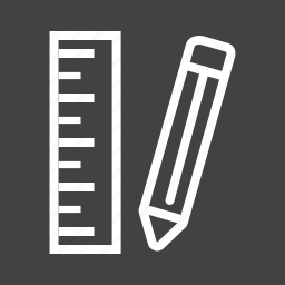 office, pencil, pencils, ruler, sharp, wood, write icon