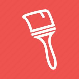 brush, home, paint, painter, pots, renovation, white icon