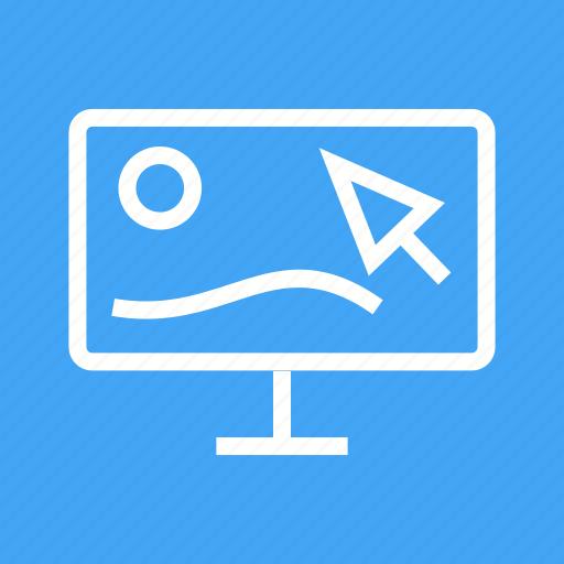 design, designer, graphic, landscape, plan, studio, tablet icon