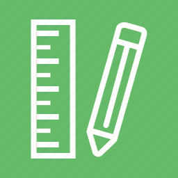 eraser, office, pencil, pencils, ruler, sharp, write icon