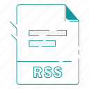 extension, file, file type, format, rss, type, word