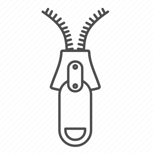 Equipment, sewing, zipper icon - Download on Iconfinder
