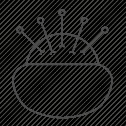 equipment, pincushion, sewing icon