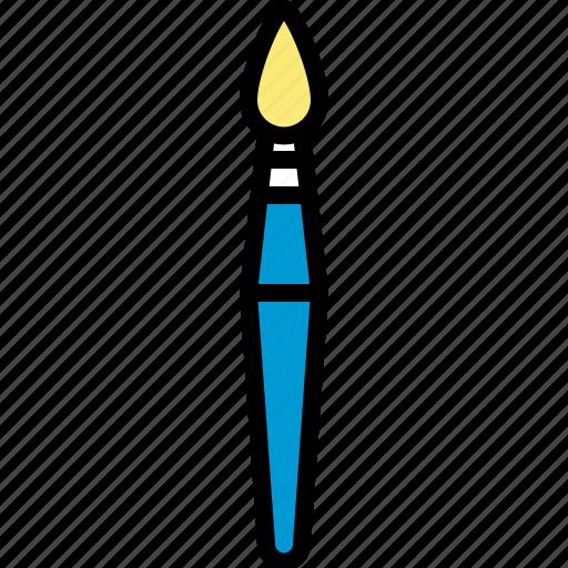 art, brush, color, creative, paint, paintbrush, school supplies icon