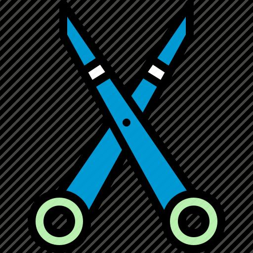 art, crafts, cut, education, school supplies, scissors, slice icon