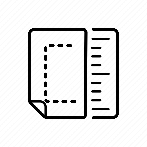 conversion, dimensions, edge, measure, scale, units icon