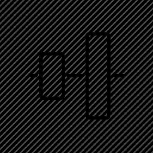 align, artboard, center, horizontal, layer, mid icon