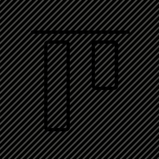 align, layer, margin, top, upward icon