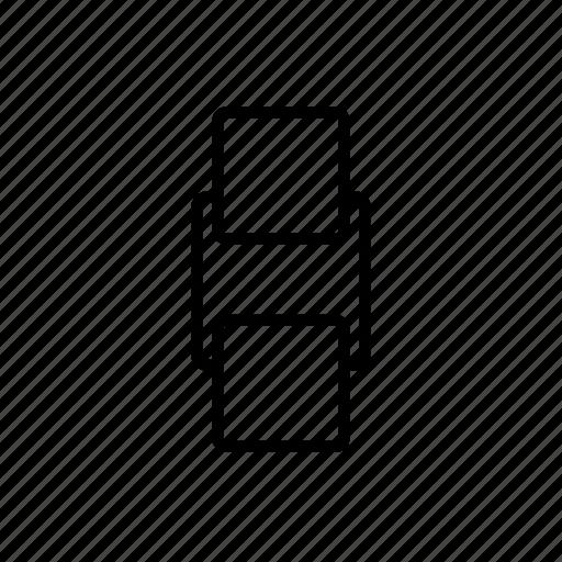 arrange, backward, behind, order, send icon