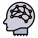 ai, artificial, artificial intelligence, brain, machine intelligence, neuron, robotics icon