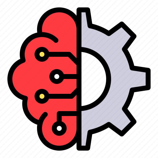 artificial, brain, config, option, processor, setting icon