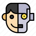 ai, artificial, humanoid, robot, robotics icon