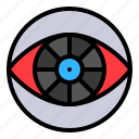 artificial, eye, observe, sight, vision, watch icon