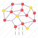 artificial, connection, net, network, neurology, neuron icon