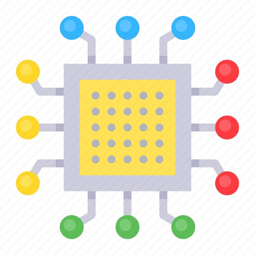 artificial, chip, cpu, hardware, processor icon