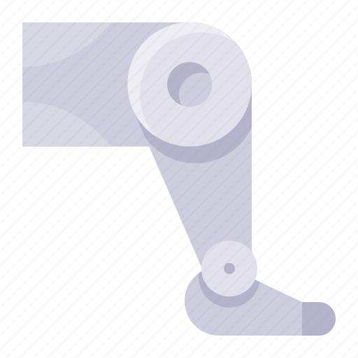 artificial, artificial leg, leg, prosthesis, robotics icon