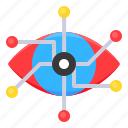 artificial, eye, network, observe, vision icon