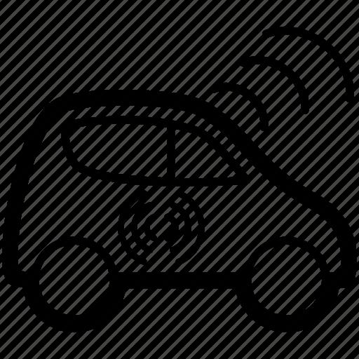 autonomous, car, driverless, driving, self, wifi icon