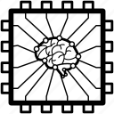 brain, cognitive, complex, computing, intelligent, smart, tech icon