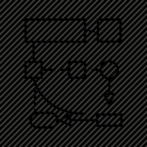 development, diagram, logic, process, programming icon