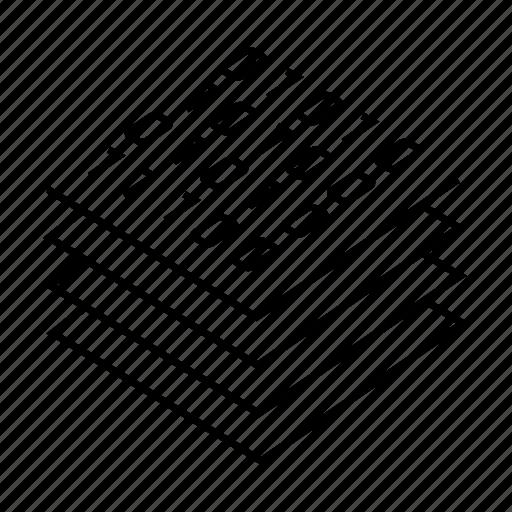 binary, coding, compute, digital, layer, processor, programming icon