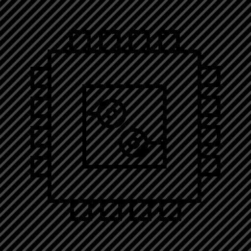 compute, computer, device, microchip, processor, robot, smart icon