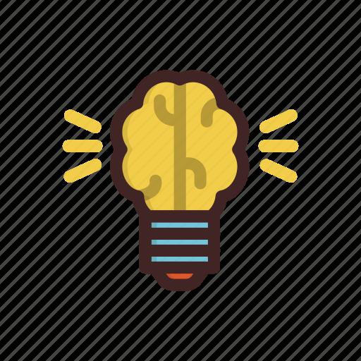 artificial, bulb, data, idea, light icon