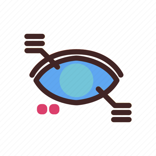 artificial intelegence, data, eye, find, scan, search, vision icon