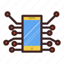 artificial intelegence, communication, mobile, phone, smart, smartphone, technology icon