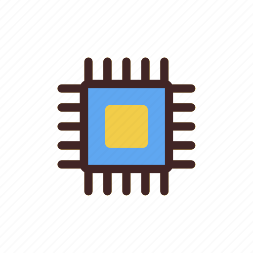 artificial intelligence, chip, computer, cpu, processor, technology icon