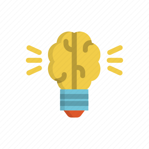 artificial, brain, bulb, creative, idea, intelegence, light icon