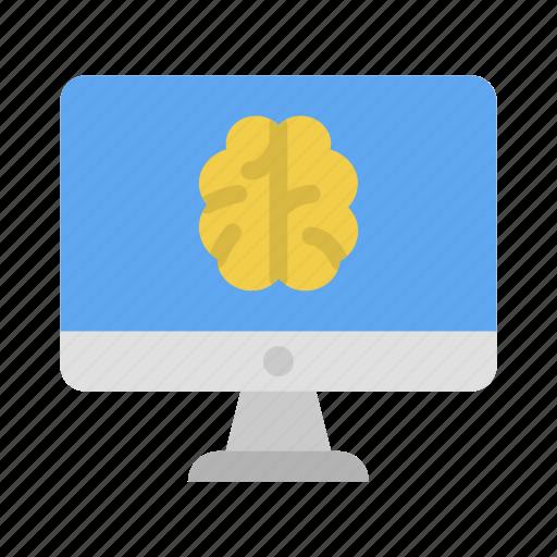 artificial intelegence, computer, desktop, hardware, screen, technology icon
