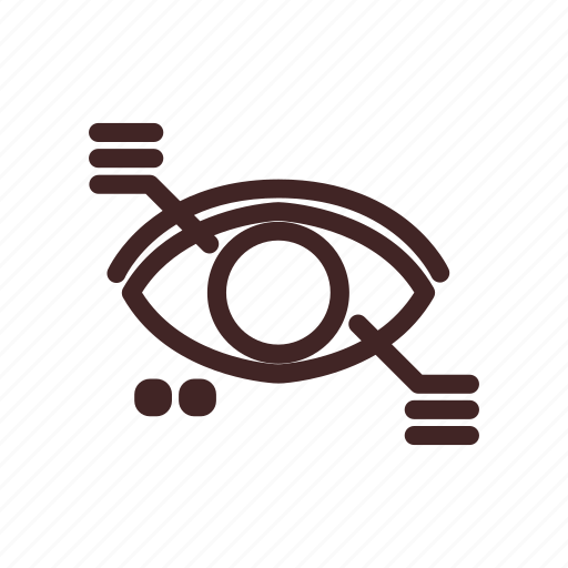 data, eye, file, research, scan, vision icon