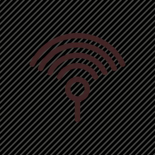 artificial intelligence, internet, network, signal, wifi, wireless icon