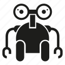 mascot, monster, robot icon